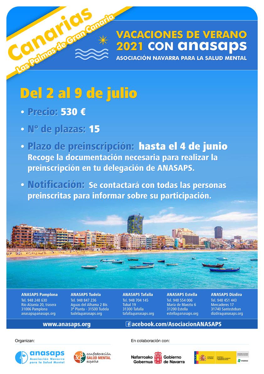 Cartel Vacaciones Canarias