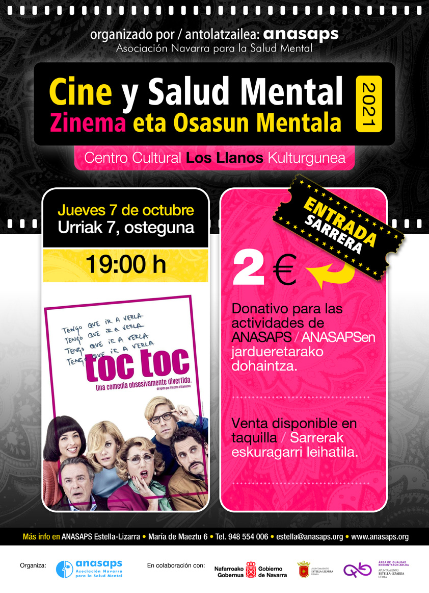 Cartel Cine y Salud Mental Estella